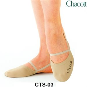 Chacott Medium (M) Beige High Cut Stretch Half Shoes 301070-0003-98
