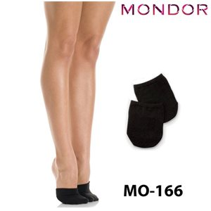 Mondor Black (BK) Footsie Half-socks 00166