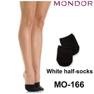 Mondor White (WH) Footsie Half-socks 00166