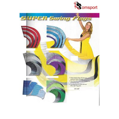 romsports super swing dancing flags poly silk nrf ss4484