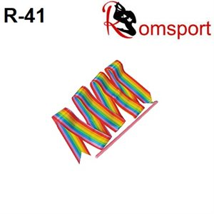 Romsports Rainbow Horizontal Ribbon (1.6m) & Stick (30 cm) Set R-41