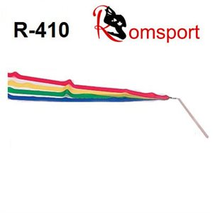Romsports 4 Colors Rainbow Ribbon (1.6m x 4cm) & Stick (30 cm) Set R-410