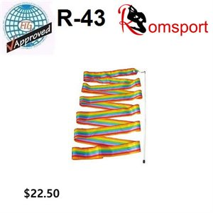 Romsports Rainbow Ribbon (6 m) & Stick (56 cm) Set R-43