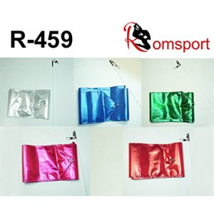 Romsports Metallic Performance Ribbon (3.6 m x 9 cm) & Stick (50 cm) Set R-459