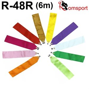 Romsports Single Color Satin Ribbon (5cm x 6m) R-48R