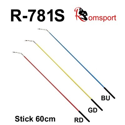 Romsports Single Color Stick with Black Grip (60 cm) R-781S